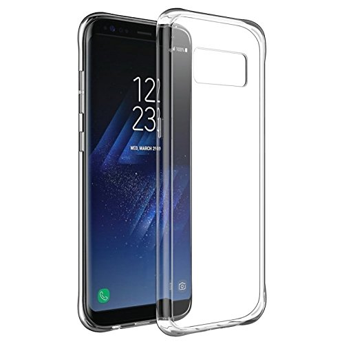 Go Hooked Transparent Silicone Flexible Soft TPU Slim Back Cover For Samsung Galaxy S8