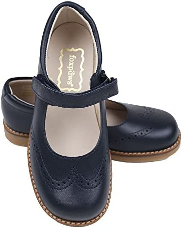 Foxpaws Jane Navy Blue Leather Girls