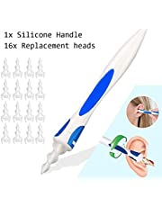 Reinigingsgereedschap voor oorsmeer q grip qtwist q twist, Soft & Safe Ear Spiral Swab Cleaner met 16 vervangende koppen