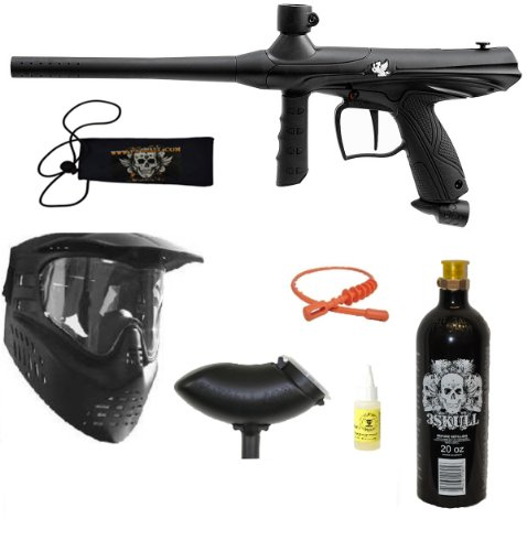Tippmann Gryphon Paintball Marker Gun 3Skull BC Set + SQG + Oil - Black