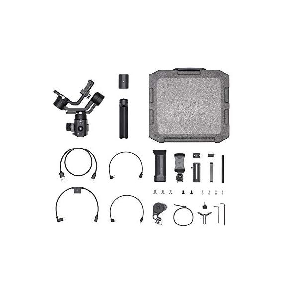DJI Ronin-SC Pro Combo Gimbal Kit con Stabilizzatore Professionale Portatile a 3 Assi, Cavi di Controllo, Supporto, per Fotocamera Mirrorless, Compatibile con Nikon, Canon, Panasonic, Fujifilm 4 spesavip