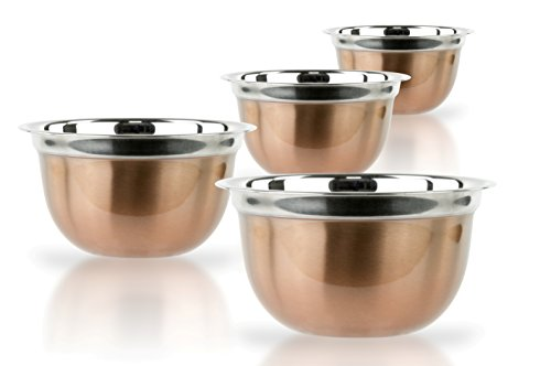 4 Pcs Stainless Steel Mixing Bowls Set – Set of 4 German Mixing Bowls Cookware Set