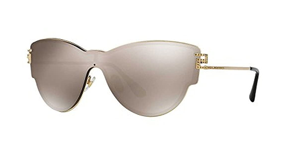 2327df200e Amazon.com  Versace Men s VE3163 Eyeglasses Striped Brown   Honey   Blue  52mm   Cleaning Kit Bundle  Clothing