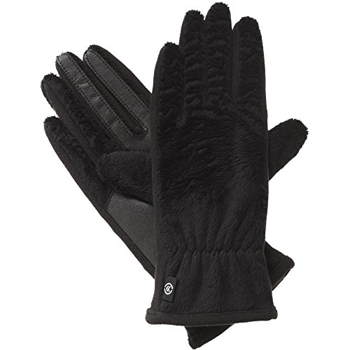Isotoner Women's Smartouch Teddy Glove with Sherpasoft Spill Unlined, Black, One Size (Black Friday 1 Deal)