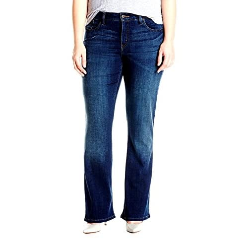 Avenue EXTENDED PLUS SIZE WOMENS Jean Stretch DENIM JEANS PANTS UP