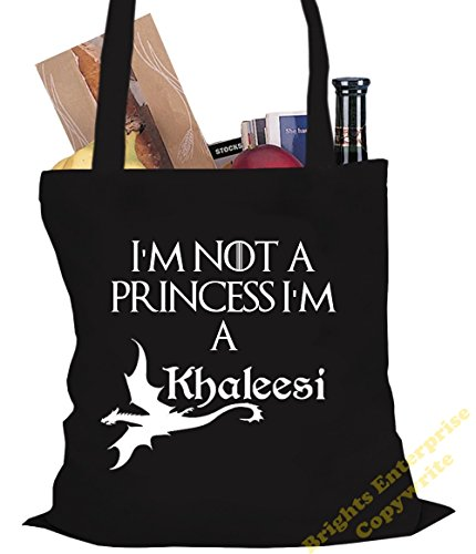 tote not Bag with 38 Shopping from Gym Beach Thrones litres I'm our Khaleesi 29 wording x bag a a Tote 10 reuseable 42 I'm Game of Black C or Birthday Size cm original the Princess unique An range zqfXwxtnc