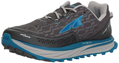 (Altra Women's Timp IQ Trail Running Shoes , Charcoal/Blue, 8 M US)