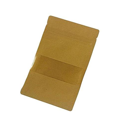 6784 50 petits sachets zip en papier kraft /à fen/être 9+3x14cm