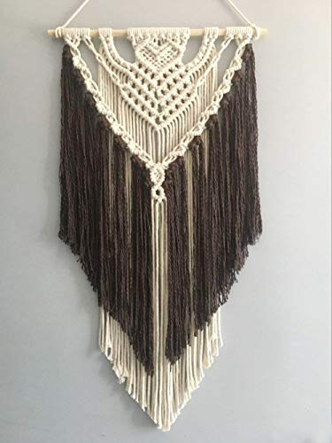 Youngeast 100% Handmade Boho Macrame Wall Hanging Home Décor Art Home Décor,31 x 16 Inches Coffee