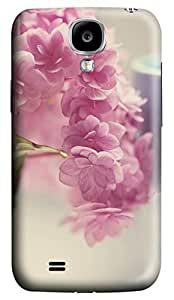 Brian114 Samsung Galaxy S4 Case, S4 Case - 3D Print Pattern Hard Cover for Samsung Galaxy S4 I9500 Lovely Pink Flowers Extremely Protective Case for Samsung Galaxy S4 I9500