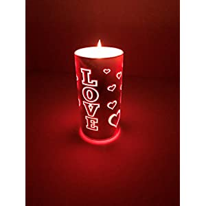 American Star Valentine's Day LED Candles Color Changing with Remote Romantic Gift Present Flameless Flickering Light with Remote Control Timer Wedding Anniversary Luminaria Pillar Tea Votive