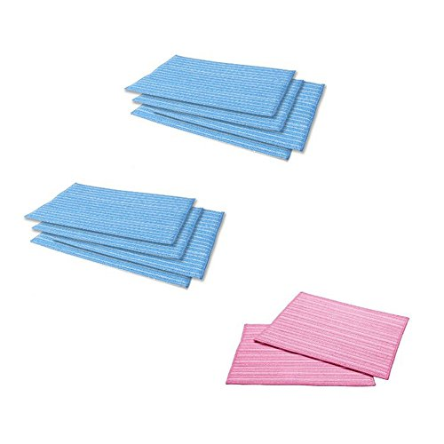 Haan MF-2P & MF-4 Ultra Microfiber Cleaning Replacement Pads Qty:10 (2ct Pink, 8ct Blue)