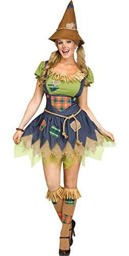 Fun World Women's Scarecrow, Multi M/L Size 10-14 -