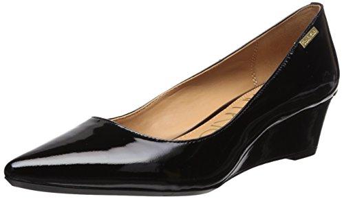 Calvin Klein Women's Germina Pump Black Patent 9.5 Medium US
