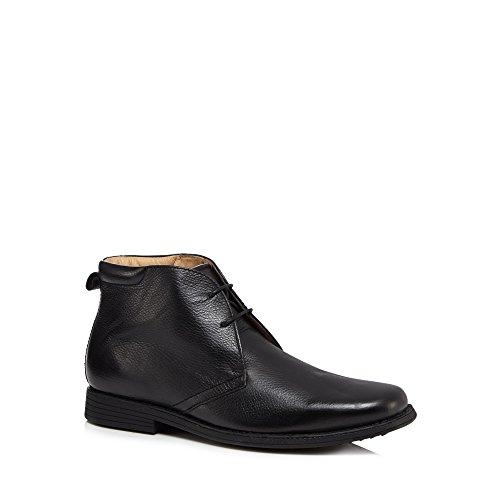 Henley Comfort Men Black Leather Chukka Boots BOr3vv1XPm