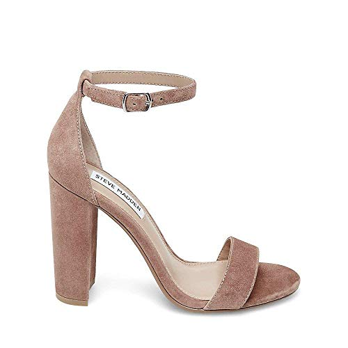 Steve M Women's Us Tan Carrson Suede Heeled 5 Sandal Madden 8 r1Rxwpqzr5