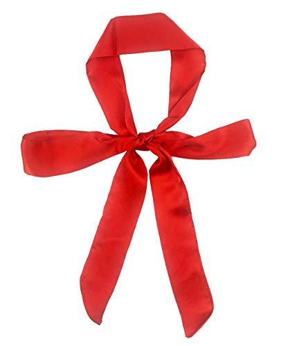 (Stylish Soft Scarf Ribbon Scarf Long Skinny Satin Belt Sash Necktie Neck Scarf Choker for Women (red))
