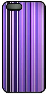 Cell Armor Snap-On Case for iPhone 4/4S - Purple/White/Yellow Vertical Stripes