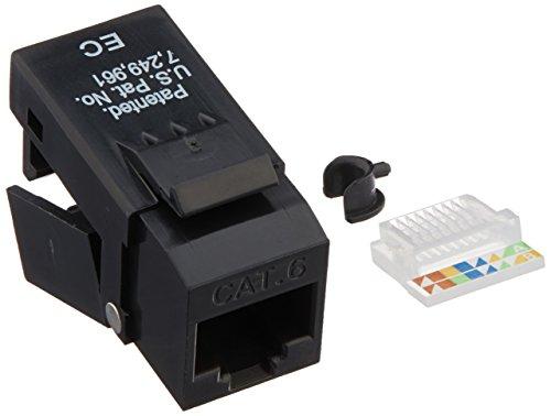 Platinum Tools EZ-SnapJack Cat6, Black. 40 pc/Installer Pack. by Platinum Tools