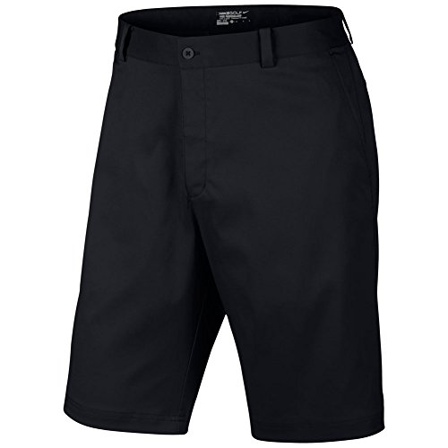 Nike Men's Flat Front Short, Black, 34 ()