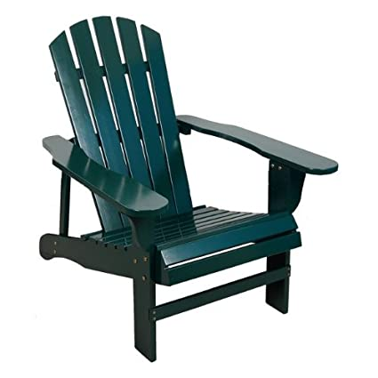Delicieux Classic Hunter Green Painted Wood Adirondack Chair