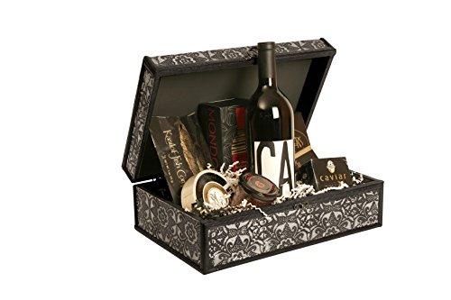 "Wald Imports Silver Metal & wood 13"" Decorative Storage Box/Trunk"