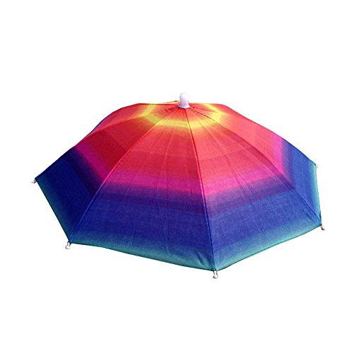 Price comparison product image GEANBAYE Adult and Kids Golf Folding Umbrella Hats Rain Hats (Colors2)