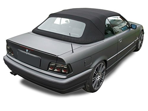 BMW 3-series Convertible Top 1994-99 E36 in Black Twill with Plastic Window
