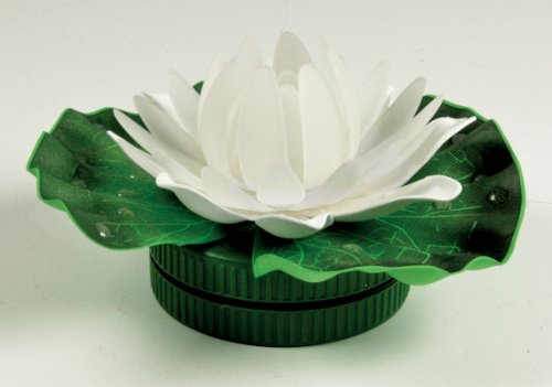 BANBERRY DESIGNS LED Pond Light Floating Lily Pad - Lotus Blossom Flower Color - Lily Lotus Blossom Water