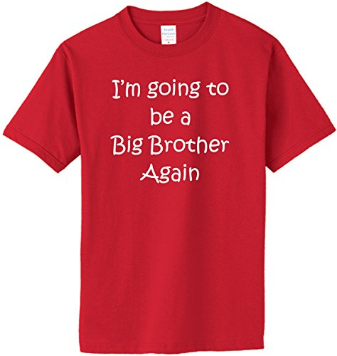 I'm Going to be a Big Brother Again T-Shirt~Red~Adult-MD Again Adult T-shirt