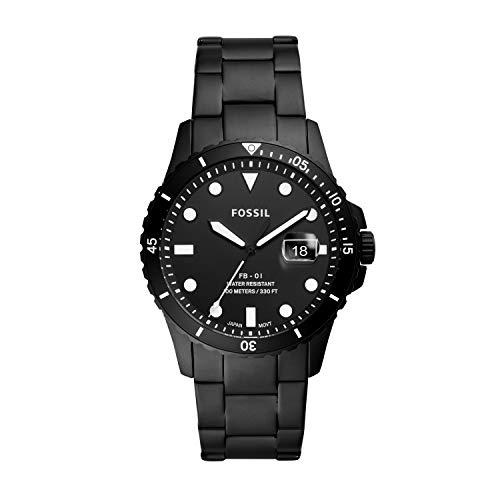 Fossil FS5659 Black Steel 316 L Analog Quartz Man Watch