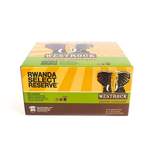 Product of Westrock Coffee Rwanda Select Reserve (80 ct.) - Single-Serve Cups & Pods [Bulk Savings]