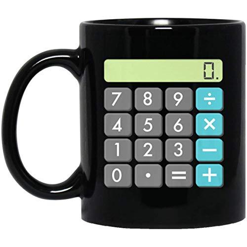 Calculator Halloween Costume Math Geek Scary Cool Gift 11 oz. Black Mug]()