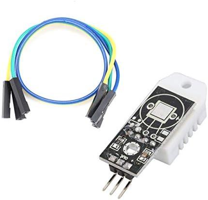 DHT22 AM2302 Arduino用デジタル温度湿度センサーモジュール、Arduino電子DIYツール用デュポンケーブルボード付き-ブラック