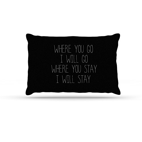 50 by 60\ Kess InHouse Suzanne Carter Where You Go  Typography Fleece Dog Bed, 50 by 60