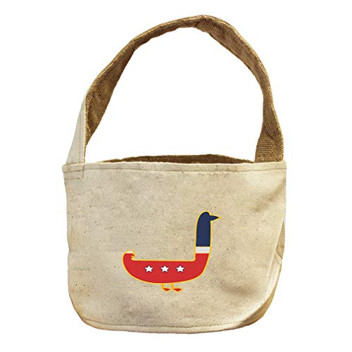 United States Bird Duck Animals Canvas and Burlap Storage Basket by Style in Print