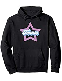 Tennis Mom Star Hoodie - Coach, Player - Pink + Blue, Outfit