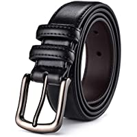 Mens Belt,HW Zone Genuine Leather Dress Belt Classic Casual 1 1/8