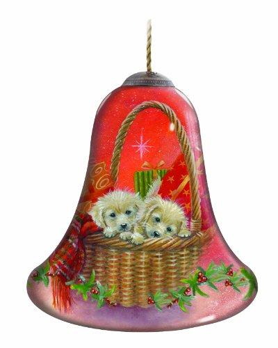 Ne'Qwa Puppies for Christmas Ornament -