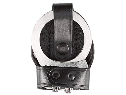 Peerless Hinged Handcuffs - Aker Leather Products Bikini Handcuff Case, Hinged 603 Bikini Handcuff Case, Hinged, Black
