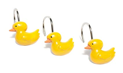Carnation Home Fashions PHP DKY 12 Ducky Resin Shower Curtain Hooks Set Of