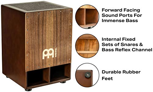Meinl Jumbo Bass Subwoofer Cajon with Internal Snares - NOT MADE IN CHINA - Walnut Playing Surface, 2-YEAR WARRANTY (SUBCAJ5WN) by Meinl Percussion (Image #1)