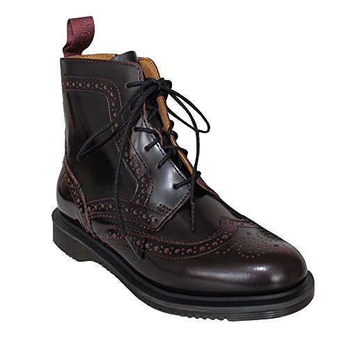 Red Boots Leather Womens 600 Red Eyelet 6 Dr Arcadia Cherry Martens Delphine xX6zXYq