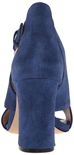 Nine West Women's Boland Suede Dress Sandal Dark Blue pWMJ6