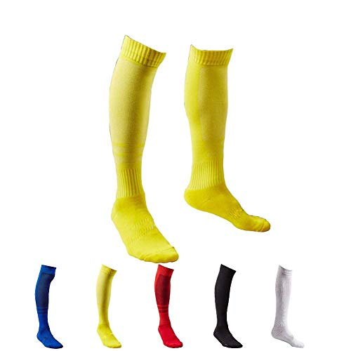 - 5 Pair Men's Long Athletic Football / Soccer Socks,Sport Tube Socks,Over the Knee High Cotton Socks,Over-the Calf Socks