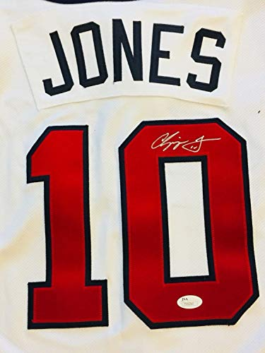 Chipper Jones Autographed Signed Majestic Cool Base Jersey 2000 All Star Game Memorabilia JSA COA