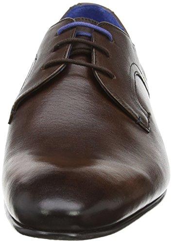 Ted Baker Pelton, Zapatos de Cordones Derby para Hombre Marrón (Brown)