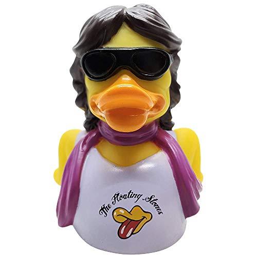 81134 | Celebriducks THE FLOATING STONES Duck | Mick Jagger The Rolling Stones fans Parodie badeend | 14cm | ean…