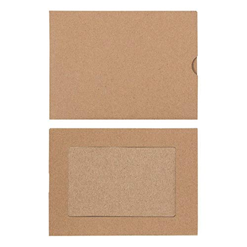 Photo Insert Note Cards - 50-Pack Paper Picture Frames Cards and Envelopes - Elegant Kraft Paper Photo Mats, Perfect for Inserting and Sending Memorable Documents, Holds 4 x 6 Inches Inserts]()