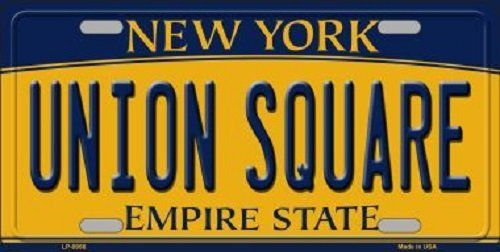 Union Square New York Background Novelty Metal License - Square Store Union